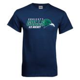 Navy T Shirt-Ice Hockey