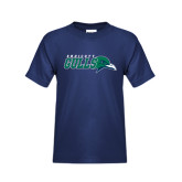 Youth Navy T Shirt-Primary Mark