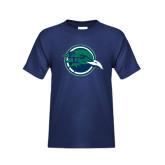 Youth Navy T Shirt-Tertiary Mark
