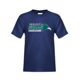 Youth Navy T Shirt-Cheerleading