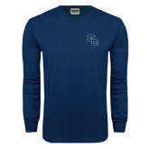 Navy Long Sleeve T Shirt-Secondary Mark