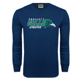 Navy Long Sleeve T Shirt-Athletics