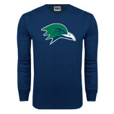 Navy Long Sleeve T Shirt-Gull Head