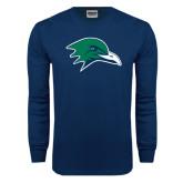 Navy Long Sleeve T Shirt-Gull Head