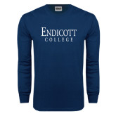 Navy Long Sleeve T Shirt-Endicott College