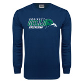 Navy Long Sleeve T Shirt-Equestrian