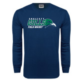 Navy Long Sleeve T Shirt-Field Hockey
