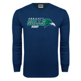 Navy Long Sleeve T Shirt-Rugby