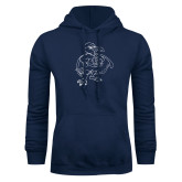 Navy Fleece Hoodie-Power Gull