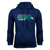Navy Fleece Hoodie-Ice Hockey