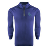 Under Armour Navy Tech 1/4 Zip Performance Shirt-Secondary Mark