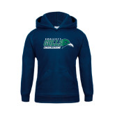 Youth Navy Fleece Hoodie-Cheerleading