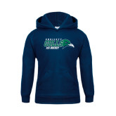Youth Navy Fleece Hoodie-Ice Hockey