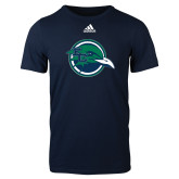 Adidas Navy Logo T Shirt-Tertiary Mark