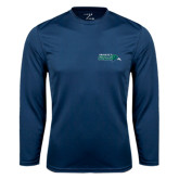 Syntrel Performance Navy Longsleeve Shirt-Primary Mark