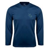 Syntrel Performance Navy Longsleeve Shirt-Secondary Mark
