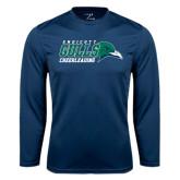 Syntrel Performance Navy Longsleeve Shirt-Cheerleading
