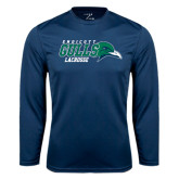 Syntrel Performance Navy Longsleeve Shirt-Lacrosse