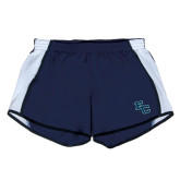 Ladies Navy/White Team Short-Secondary Mark