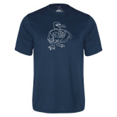 Syntrel Performance Navy Tee-Power Gull