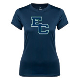 Ladies Syntrel Performance Navy Tee-Secondary Mark