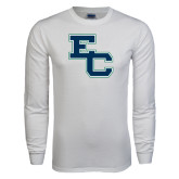 White Long Sleeve T Shirt-Secondary Mark