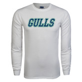 White Long Sleeve T Shirt-Gulls