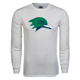 White Long Sleeve T Shirt-Gull Head