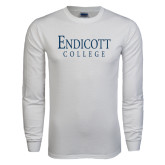 White Long Sleeve T Shirt-Endicott College
