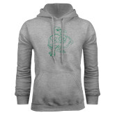 Grey Fleece Hoodie-Power Gull