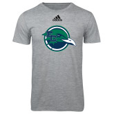 Adidas Sport Grey Logo T Shirt-Tertiary Mark