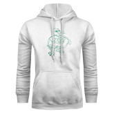 White Fleece Hoodie-Power Gull