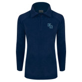 Columbia Ladies Half Zip Navy Fleece Jacket-Secondary Mark