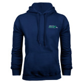 Navy Fleece Hood-Primary Mark