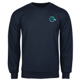 Navy Fleece Crew-Tertiary Mark