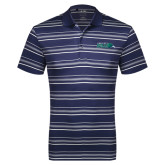 Adidas Climalite Navy Textured Stripe Polo-Primary Mark
