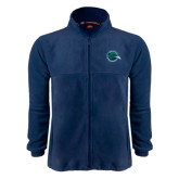 Fleece Full Zip Navy Jacket-Tertiary Mark