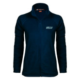 Ladies Fleece Full Zip Navy Jacket-Gulls