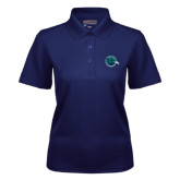 Ladies Navy Dry Mesh Polo-Tertiary Mark