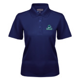 Ladies Navy Dry Mesh Polo-Gulls Vertical