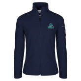 Columbia Ladies Full Zip Navy Fleece Jacket-Gulls Vertical