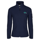 Columbia Ladies Full Zip Navy Fleece Jacket-F-22 Raptor