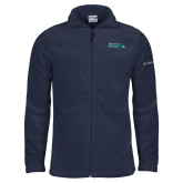 Columbia Full Zip Navy Fleece Jacket-Primary Mark