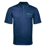 Navy Mini Stripe Polo-Primary Mark