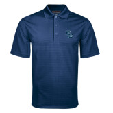 Navy Mini Stripe Polo-Secondary Mark
