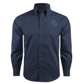 Red House Deep Blue Herringbone Non Iron Long Sleeve Shirt-Secondary Mark