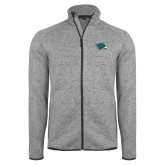 Grey Heather Fleece Jacket-F-22 Raptor