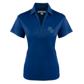 Ladies Navy Performance Fine Jacquard Polo-Secondary Mark