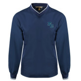 Navy Executive Windshirt-Secondary Mark