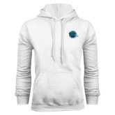 White Fleece Hoodie-Tertiary Mark